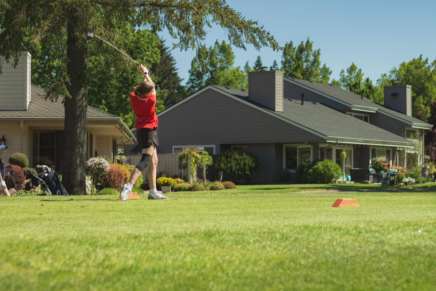Girls+Golf+Competes+Against+Wilsonville%2C+Scappoose%2C+and+St.+Helens