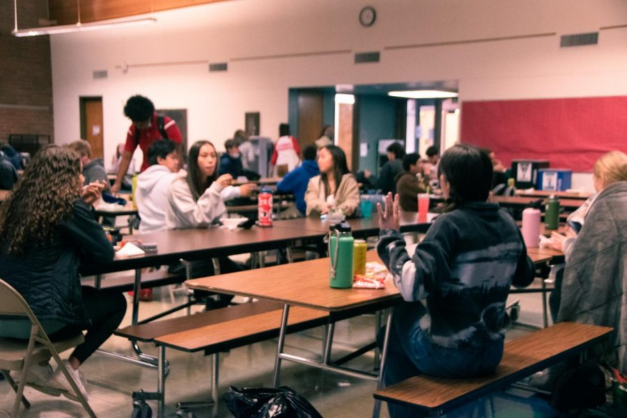 La Salle has two lunches, A and B, which are determined by students third and sixth-period classes.
